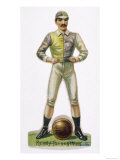 Standing Astride a Football This Man is Ready to Play Giclee Print