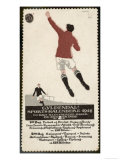 Footballer Leaps for the Ball on a Poster for a Norwegian Sports Calendar Giclee Print
