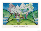 The Story of the Stone Lion the Stone Lion Vomits Giclee Print