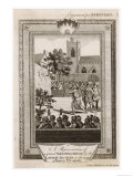 An Archery Contest Takes Place in London During the Reign of Queen Elizabeth I Giclee Print