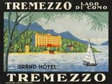 The Label for the Grand Hotel at Tremezzo on Lake Como Premium Giclee-trykk