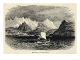 Viking Explorer Naddod Discovers Iceland, Giclee Print