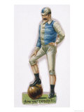 With His Foot on the Ball This Man is Ready to Play Lámina giclée