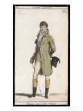 Frock Coat and Cane 1807 Giclee Print