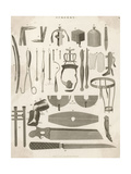 Variety of Surgical Instruments Giclee Print
