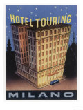 Yes the Hotel Touring at Milano Italy is Big and Its Fine Label Design Emphasises It Giclee Print