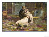 "Ivan IV Vasilyevich Known as ""The Terrible"" Clasps the Bloody Head of His Son Ivan Giclee Print"