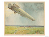 Zeppelin LZ-3 Flying Over the Fields of Germany Giclee Print
