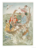 The Eight Immortals Cross the Sea Each Using Their Own Particular Magic Charm Giclee Print