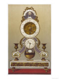 French Revolution Clock 1790 Giclee Print