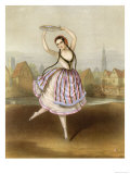 Fanny Cerrito Italian Ballet Dancer Seen Here in Alma Giclee Print