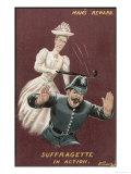 Mans Reward, Suffragette in Action Giclee Print
