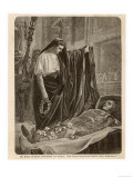 Caesar Inspects the Mummified Corpse of Alexander the Great at His Tomb in Alexandria Egypt Giclee Print