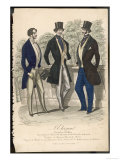 Gent in Day Dress Clothes Also a Frock Coat S-B Coat Curving Away Giclee Print