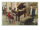 Wurlitzer Piano in Home Giclee Print
