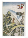 The Mischievous Monkey Fairy, God Sun Hou-Tzu is Born from a Rock Giclee Print