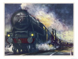 "The London Midland and Scottish Railway's ""Down Special"" Mail Train Giclee Print"