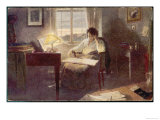 Ludwig Van Beethoven Composing Giclee Print