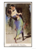 Oh for a Jazz with You!, Two Dancers Kiss as They Dance Giclee Print