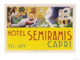 Label from the Hotel Semiramis Capri Giclee Print
