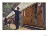 Guard of the North Eastern Railway Giclee Print