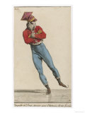 An Elegant Parisian Fellow Skates Smoothly Along with His Arms Folded Giclee Print