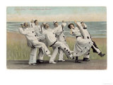 Seaside Concert Party Troupe in Pierrot Costume Singing and Dancing Giclee Print