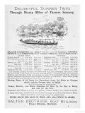 Notice of Sailings of Thames Steamers Operated by Salter Brothers of Folly Bridge Oxford Giclee Print