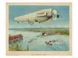 Zeppelin LZ-4 She Makes Her Trial Flights Over the Bodensee Giclee Print