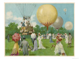 Balloon Rally at Hurlingham Giclee Print