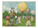Balloon Rally at Hurlingham Giclee Print