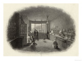 Scientists at Work in a Laboratory Giclee Print