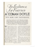 The Title Page of Arthur Conan Doyle's Article Discussing the Evidence for the Existence of Fairies Giclee Print