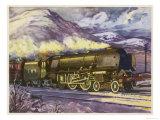 "The London Midland and Scottish Railway's ""Coronation"" Class Loco No 5256 Giclee Print"