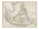 Map of the East India Islands Giclee Print