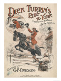 Music Cover Depicting Dick Turpin's Ride to York and the Death of Black Bess Giclee Print