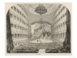 "Old Covent Garden Theatre, During a Performance of the Opera ""Semiramide"" by Rossini Giclee Print"