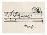 Cadenza, with Mozarts Signature Reproduction procédé giclée