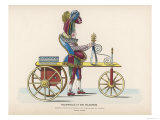 Toy Representing Pulchinello Riding a Velocipede Giclee Print