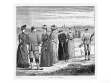 Beautifully Attired Ladies Enjoy a Game at St. Andrews Scotland Giclee Print