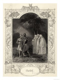 Macbeth, Act I Scene III: Macbeth and Banquo Encounter the Three Witches Giclee Print