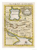 Map of Persia and Arabia Giclee Print
