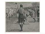 Penalty Kick Sails Between the Posts Giving Wales a 9-8 Victory Over England Giclee Print