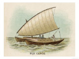 Sailing Catamaran Canoe Used in Fiji Giclee Print