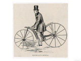 Kirkpatrick Macmillan and His Early Dandy Horse Bicycle Giclee Print