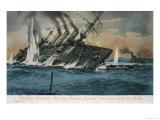 "The British Cruiser ""Hermes"" is Torpedoed and Sunk by a German U-Boat Giclee Print"