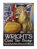Wright's Coal Tar Soap: Britain's Might is (W)Right Premium Giclee Print