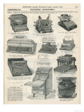 Various Models of Typewriter Obtainable from Harrods Giclee Print
