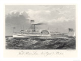 Paddle Steamer of the Fall River Line Plying Between New York and Boston Giclee Print