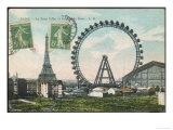 La Grande Roue with the Tour Eiffel in the Distance Giclee Print